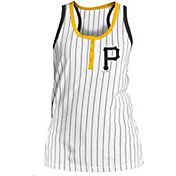 5th & Ocean Women's Pittsburgh Pirates Pinstripe White Tank