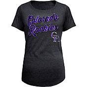 5th & Ocean Women's Colorado Rockies Black Tri-Blend T-Shirt