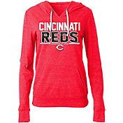 5th & Ocean Women's Cincinnati Reds Tri-Blend Pullover Hoodie