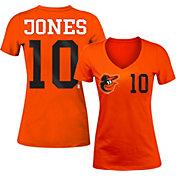 5th & Ocean Women's Baltimore Orioles Adam Jones #10 Orange Tri-Blend V-Neck T-Shirt
