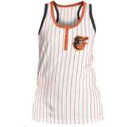 5th & Ocean Women's Baltimore Orioles Pinstripe White Tank