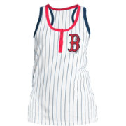 New Era Women's Boston Red Sox Pinstripe White Tank