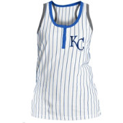 5th & Ocean Women's Kansas City Royals Pinstripe White Tank