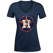 5th & Ocean Women's Houston Astros Navy Tri-Blend V-Neck T-Shirt