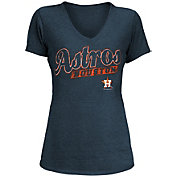 5th & Ocean Women's Houston Astros Navy Tri-Blend V-Neck T-Shirt
