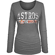 5th & Ocean Women's Houston Astros Tri-Blend Navy Long Sleeve Shirt