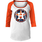 5th & Ocean Women's Houston Astros Three-Quarter Sleeve Shirt