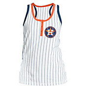 5th & Ocean Women's Houston Astros Pinstripe White Tank