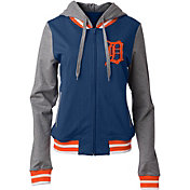 5th & Ocean Women's Detroit Tigers Full-Zip Hoodie