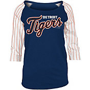 5th & Ocean Women's Detroit Tigers Three-Quarter Sleeve Shirt