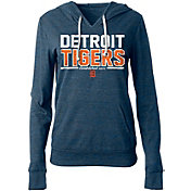5th & Ocean Women's Detroit Tigers Tri-Blend Pullover Hoodie