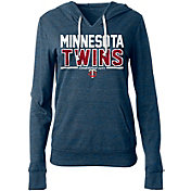 5th & Ocean Women's Minnesota Twins Tri-Blend Pullover Hoodie