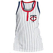 5th & Ocean Women's Minnesota Twins Pinstripe White Tank