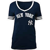 5th & Ocean Women's New York Yankees Navy V-Neck T-Shirt