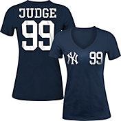 5th & Ocean Women's New York Yankees Aaron Judge Navy Tri-Blend V-Neck T-Shirt