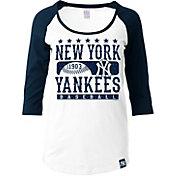 5th & Ocean Women's New York Yankees Three-Quarter Sleeve Shirt