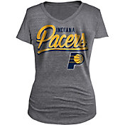 5th & Ocean Women's Indiana Pacers Tri-Blend Grey V-Neck T-Shirt