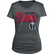 5th & Ocean Women's Washington Wizards Tri-Blend Grey V-Neck T-Shirt
