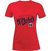 5th & Ocean Women's Washington Wizards Red Tri-Blend V-Neck T-Shirt