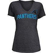 5th & Ocean Women's Carolina Panthers Block Rhinestone Black T-Shirt