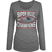5th & Ocean Women's Super Bowl LI Champions New England Patriots Grey Long Sleeve Shirt