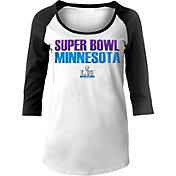 '47 Women's Super Bowl LII White Scoop Neck Raglan