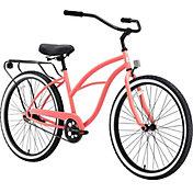 sixthreezero Women's Around the Block Single Speed Beach Cruiser Bike