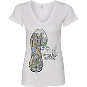 Women's 2017 Pittsburgh Marathon Soul V-Neck T-Shirt