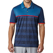 adidas Men's climacool 2D Camo Stripe Golf Polo