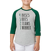 adidas Boys' 4321 ¾ Sleeve Baseball Shirt