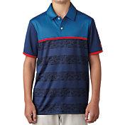 adidas Boys' Camo Stripe Golf Polo