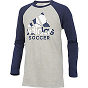 adidas Boys' Logo Skins Long Sleeve Shirt