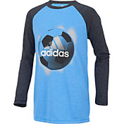 adidas Boys' Logo Sport Ball Long Sleeve Shirt