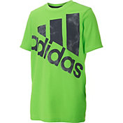 adidas Little Boys' Neon Smoke Screen Logo T-Shirt