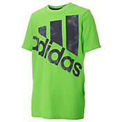 adidas Boys' Neon Smoke Screen Logo T-Shirt