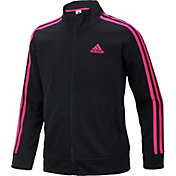 adidas Girls' Warm Up Tricot Jacket