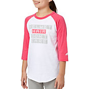 adidas Girls' Helmet Hair ¾ Sleeve Softball Shirt
