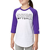 adidas Girls' Hit Steal Slide ¾ Sleeve Softball Shirt