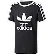 adidas Originals Girls' 3-Stripes Trefoil T-Shirt
