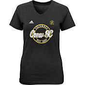 adidas Youth Girls' Columbus Crew Dusty Sky Black T-Shirt