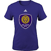 adidas Youth Girls' Orlando City Big Logo Purple T-Shirt