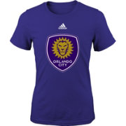adidas Youth Girls' Orlando City Big Logo Purple T-Shirt