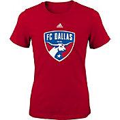 adidas Youth Girls' FC Dallas Big Logo Red T-Shirt