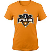 adidas Youth Girls' Houston Dynamos Big Logo Orange T-Shirt
