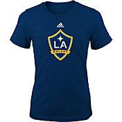 adidas Youth Girls' LA Galaxy Big Logo Navy T-Shirt