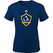 adidas Youth Girls' LA Galaxy Big Logo Navy T-Shirt