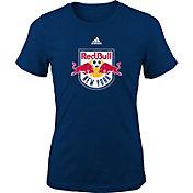 adidas Youth Girls' New York Red Bulls Big Logo Navy T-Shirt