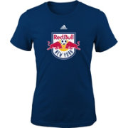 adidas Youth Girls' New York Red Bulls Big Logo Navy T-Shirt