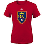 adidas Youth Girls' Real Salt Lake Big Logo Red T-Shirt