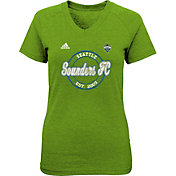 adidas Youth Girls' Seattle Sounders Dusty Sky Green T-Shirt